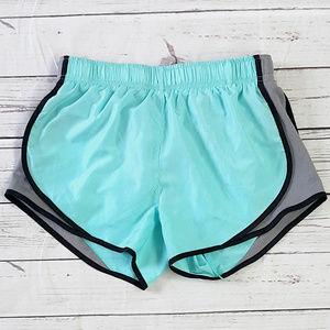 90 Degree by Reflex aqua gray running shorts / S